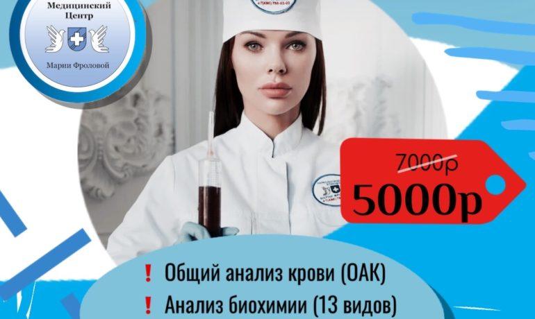 КОМПЛЕКС АНАЛИЗОВ ПО АКЦИИ